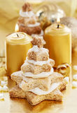 Gingerbread christmas trees. Beautiful xmas dessert Stock Images