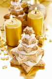 Gingerbread christmas trees. Beautiful xmas dessert Royalty Free Stock Image