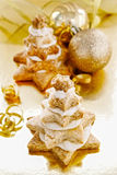 Gingerbread christmas trees. Beautiful xmas dessert Royalty Free Stock Photography