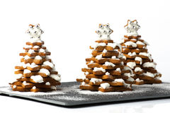 Gingerbread Christmas trees Royalty Free Stock Images