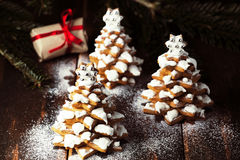 Gingerbread Christmas trees Royalty Free Stock Image