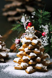 Gingerbread Christmas trees Stock Image