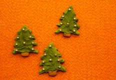 Gingerbread Christmas Trees forest Stock Photos