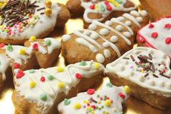Gingerbread colorful cookies Stock Photo
