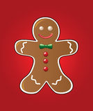 Gingerbread cookie. Vector illustration of gingerbread cookie on red background vector illustration