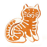 Gingerbread cookie cat Royalty Free Stock Image