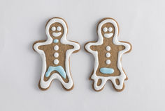 Gingerbread cookie characters Stock Photography