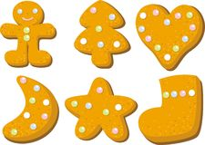 Gingerbread Cookie for Christmas Stock Photo