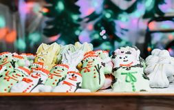 Gingerbread cookie on Christmas market in Vilnius. In Lithuania royalty free stock photos