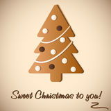 Gingerbread Cookie of Christmas tree Stock Photography