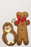 Gingerbread cookie. S isolater on  white background Stock Images