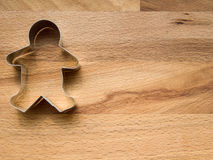 Gingerbread cookie cutter. With copyspace stock photo