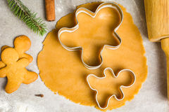 Gingerbread cookie dough Royalty Free Stock Image