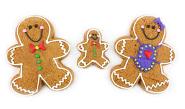 Gingerbread Cookie Family. Isolated on white Stock Photography