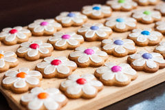 Gingerbread cookie flowers Royalty Free Stock Image