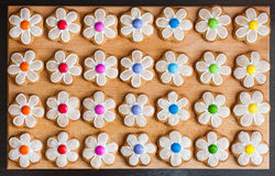 Gingerbread cookie flowers Royalty Free Stock Photo