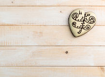 Gingerbread cookie in the form of heart Royalty Free Stock Photography