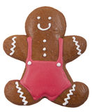 Gingerbread cookie in the form of a man Royalty Free Stock Image