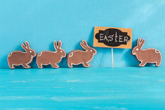 Gingerbread cookie in the form of rabbits. Stock Image