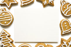 Gingerbread Cookie Frame Stock Photography