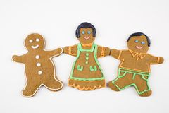 Gingerbread cookie friends. Stock Photos