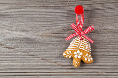 Gingerbread cookie hanging Stock Photography