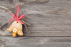 Gingerbread cookie hanging Stock Photo