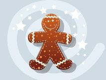 Gingerbread Cookie icon vector christmas, Happy New Year and dec Royalty Free Stock Photos