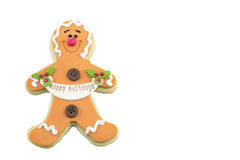 Gingerbread cookie isolated on white background Stock Photography