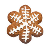 Gingerbread cookie made in the shape of a Christmas star Stock Photo