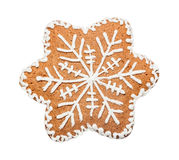 Gingerbread cookie made in the shape of a Christmas star Royalty Free Stock Photos