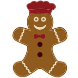 Gingerbread cookie man chef Stock Photo