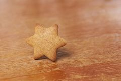 Gingerbread Cookie. One star. Sweet delicious dessert Royalty Free Stock Image
