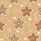 Gingerbread cookie seamless background. Creative Design. Vector Illustration Stock Photos