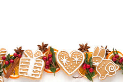 Gingerbread cookie and spice Royalty Free Stock Photos