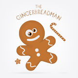 Gingerbread Cookie. Vector illustration of a gingerbread cookie Royalty Free Stock Image