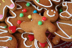 Gingerbread cookies. Colorful cute christmas gingerbread man cookies Stock Image