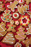 Gingerbread cookies. Colorful christmas gingerbread man and tree cookies Royalty Free Stock Photography