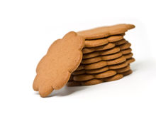 Gingerbread cookies. Isolated on white background Royalty Free Stock Photo
