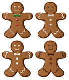 Gingerbread cookies. Illustration of four  gingerbread cookies Royalty Free Stock Photography