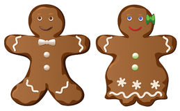 Gingerbread cookies Stock Photos