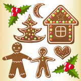 Gingerbread cookies. Stock Photos
