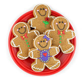 Gingerbread Cookies. Isolated on white stock photos
