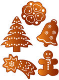 Gingerbread cookies royalty free illustration