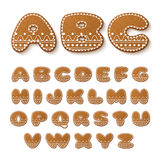 Gingerbread cookies alphabet Royalty Free Stock Image
