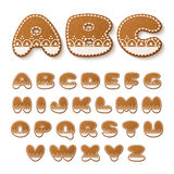 Gingerbread cookies alphabet Royalty Free Stock Photography