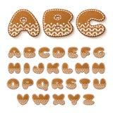 Gingerbread cookies alphabet Stock Photos