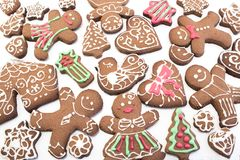 Gingerbread  Cookies as a Background Stock Photo