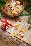Gingerbread cookies as Christmas decoration Stock Images