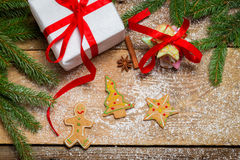Gingerbread cookies as a gift for Christmas Stock Images